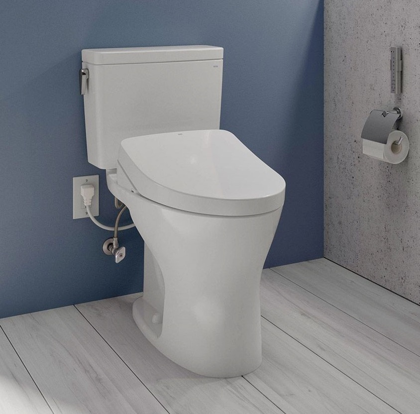 TOTO WASHLET+ - Hidden cords and hoses