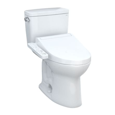 TOTO Drake WASHLET+ C2 Two-Piece Toilet and Bidet System, 1.6 GPF, Universal Height & ADA Compliant